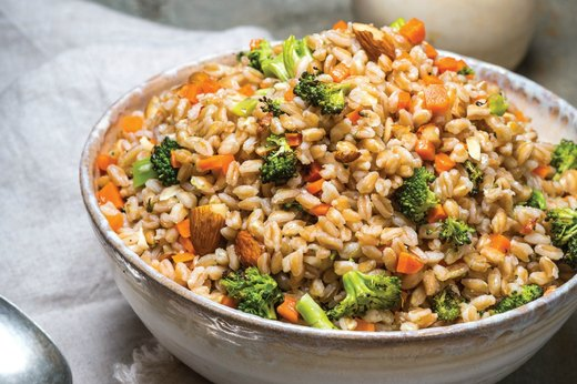 Farro With Charred Vegetables