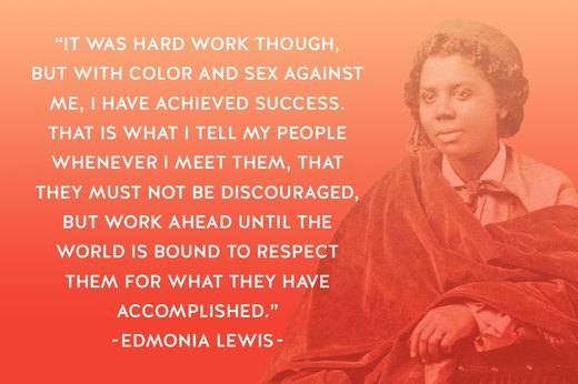 3. Edmonia Lewis: Neoclassical Sculptor, Advocate for Abolitionists