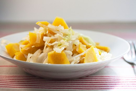 10. Sweet and Sour Acorn Squash and Cabbage