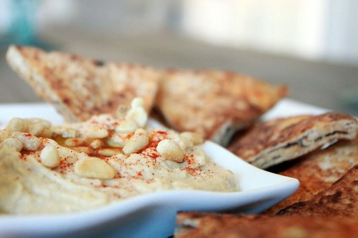 Garlic and Pine Nut Hummus