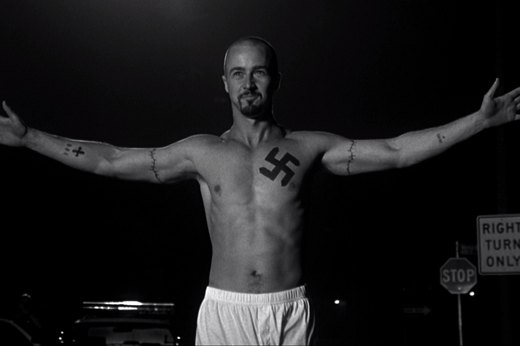 "16. Edward Norton in ""American History X"""