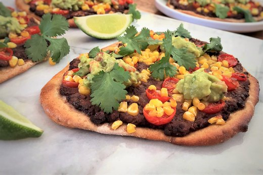 3. Vegetarian Mexican Personal Pizzas