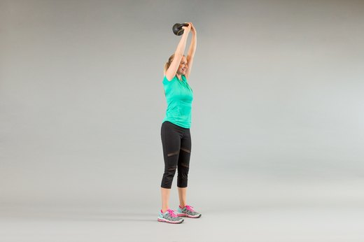 6. Squat to Kettlebell Triceps Extension