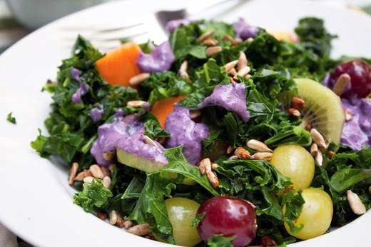 3. Kale Fruit Salad With Blueberry Dressing