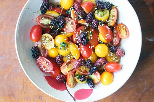 Cheerful Berry and Cherry Tomato Salad