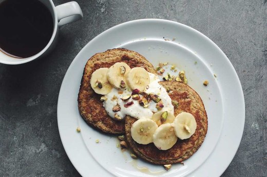 10. MAKE-AHEAD: Banana-Pecan Pancakes
