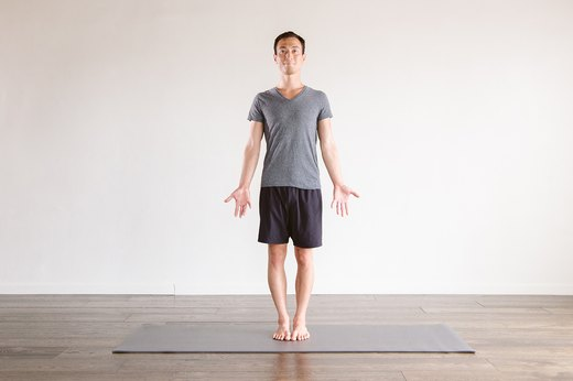 1. Mountain Pose (Tadasana)