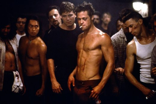 "18. Brad Pitt in ""Fight Club"""