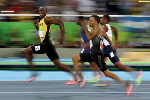 6. Usain Bolt Dazzles the Crowds