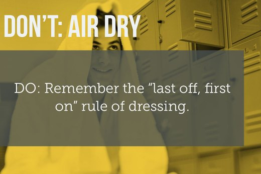 2. DON'T Air Dry