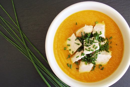 5. Rosemary Carrot Soup With Rotisserie Chicken