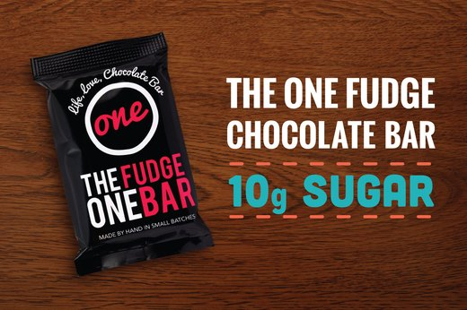 5. The One Fudge Chocolate Bar: 10 Grams of Sugar (1 Bar)