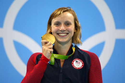 9. Ledecky's Impressive World Record Swim
