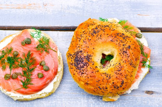 10. Smoked Salmon, Capers, Fresh Dill, Whole-Wheat Bagel Chips