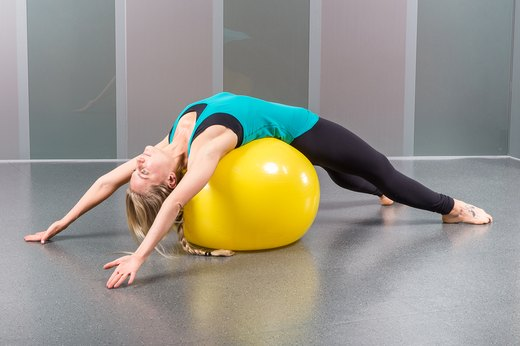 6. Stability-Ball Back Stretch