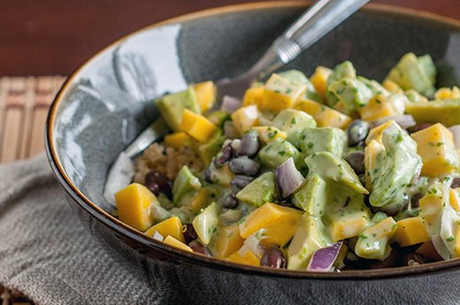 Black Bean and Quinoa Salad With Mango and Avocado