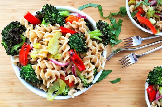 4. Warm Italian Pasta Salad With Charred Broccoli and Bell Pepper