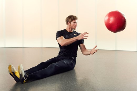 Medicine-Ball Lateral Scoops