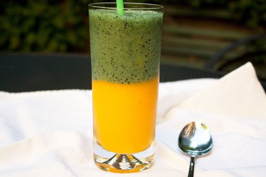 2. Mango and Power Greens Layered Smoothie