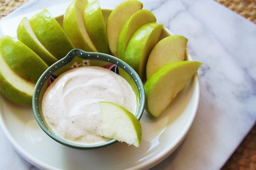 6. Granny Smith Apple With Maple Crème Dip