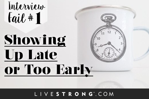 1. Showing up Late OR Too Early