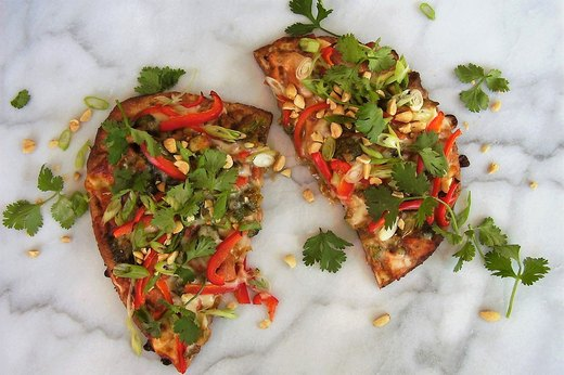2. Pan-Asian Flatbread (Leftover: Stir-Fry)