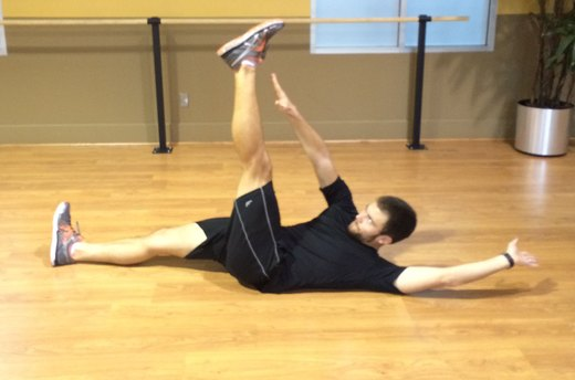 Crunch Variation #1: Add Leg Extensions