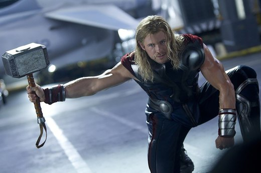 "34. Chris Hemsworth in ""Thor"""
