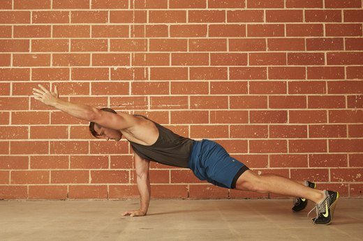 7. Single Arm Raise Push-Up