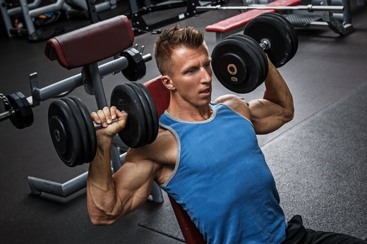 7. Dumbbell Press Series Drop Set
