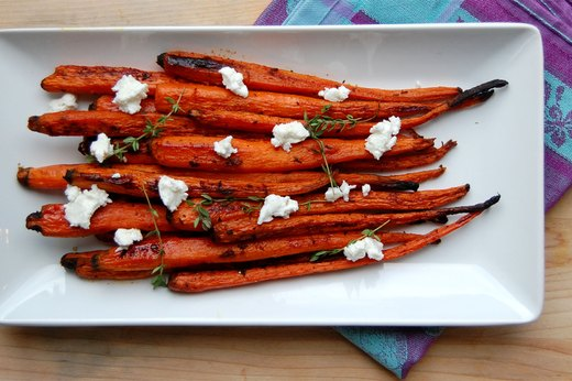 6. Honey and Herb Roasted Carrots With Goat Cheese