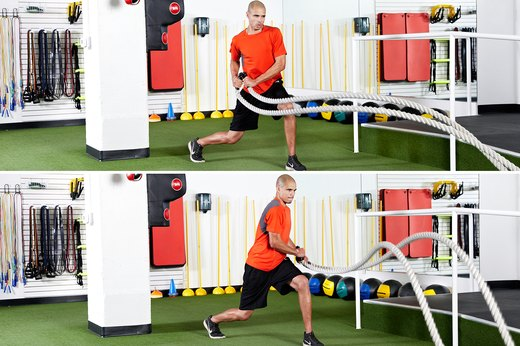 5. Split Squat With Hip-Toss Rotation