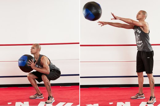 8. Medicine Ball Squat to Chest Pass