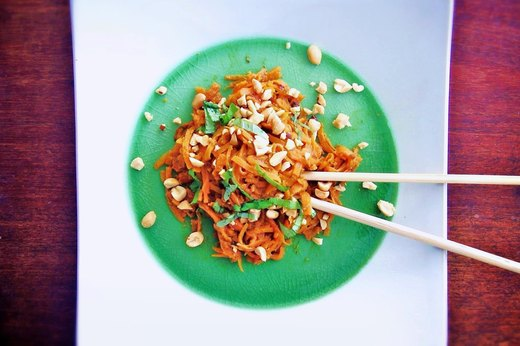 "1. Thai Peanut Sweet Potato ""Noodles"""