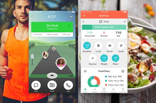 1. Fitness and Food Tracking Apps