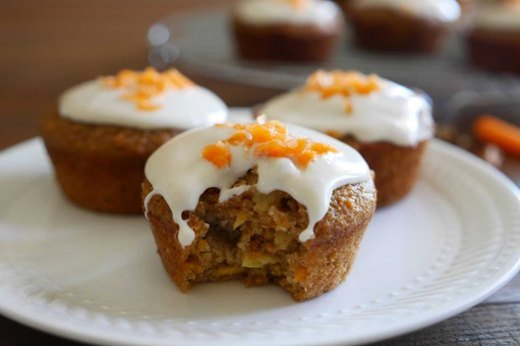 Recipe #6: Whole-Grain Carrot Cake Muffins