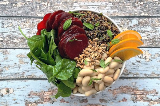 3. Spinach, Beet and White Bean Bowl