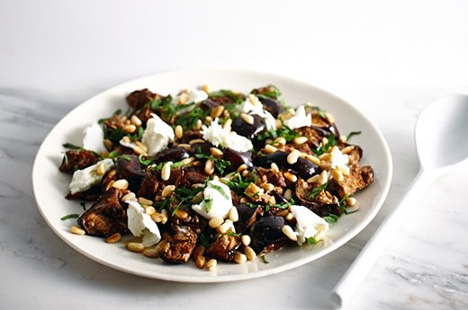 Indian-Spiced Eggplant and Mozzarella Salad