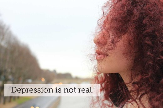 "4. ""Depression isn't a legit medical condition."""
