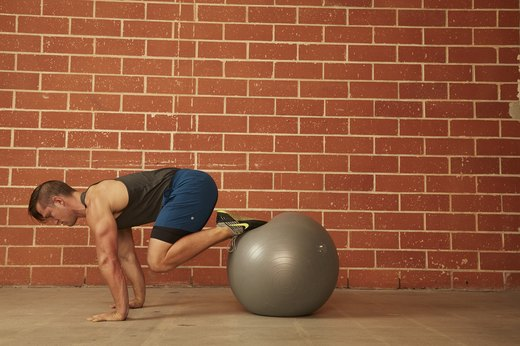 19. Stability Ball Push-Up With Pull-In
