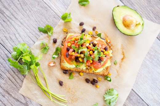 1. Tex-Mex Avocado Toast