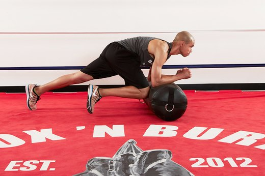 3. Heavy Bag Plank with Knees