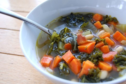 4. Kale, Bacon and White Bean Soup