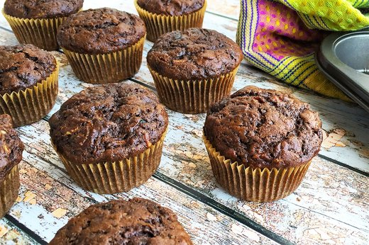 5. Double-Chocolate Zucchini Muffins