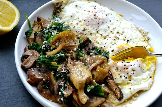 2. Wild Mushroom and Baby Spinach Egg Skillet
