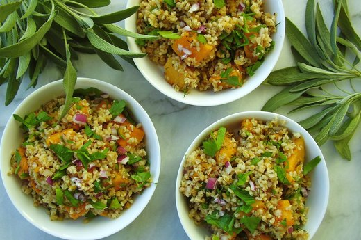 3. Herbed Freekeh and Butternut Squash Pilaf