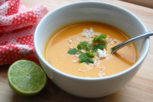 10. Sweet Potato Soup With Coconut and Red Curry