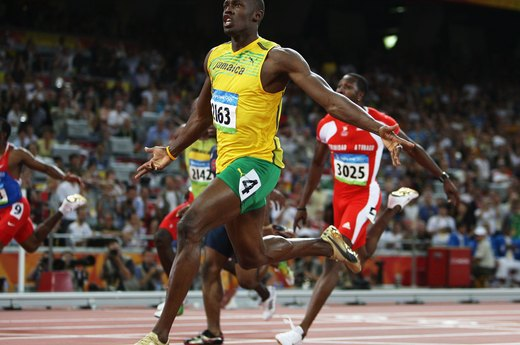 8. Usain Bolt Sets Three World Records in the Sprints (2008 Beijing)