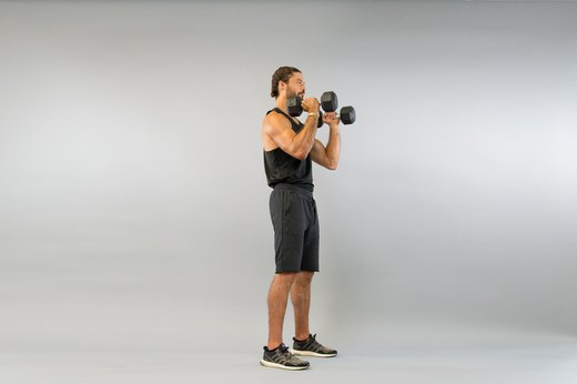 7. Dumbbell Rotational Shoulder Press