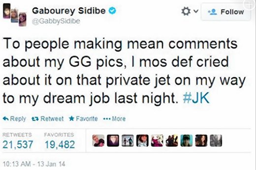 9. Gabourey Sidibe Deals With Twitter Trolls